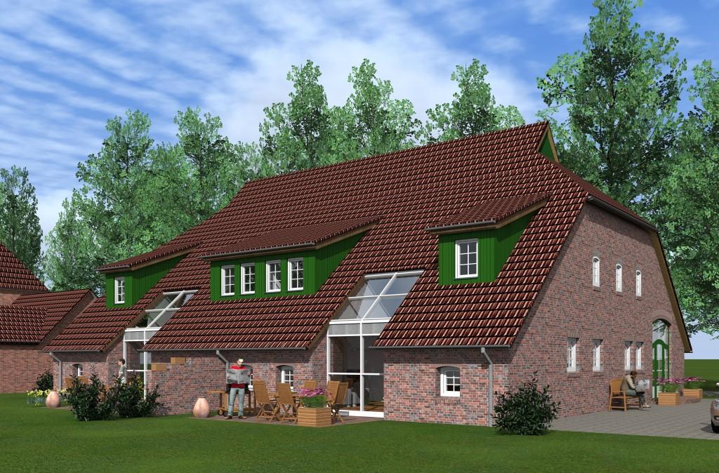 1410 umbau einer alten stallanlage zu einem doppelhaus for Garten umbau