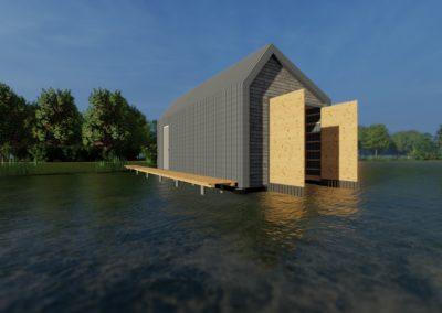 1907 – Neubau eines Bootshauses am Bornhorster See